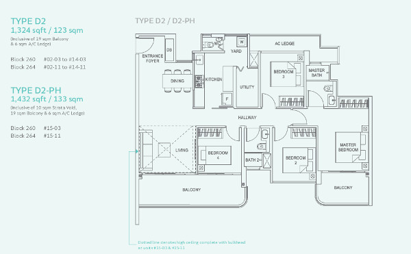 Hundred Palms Residences 4RM Floor Plan