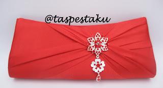 Tas Pesta Clutch Bag Handmade Warna Merah Cabe