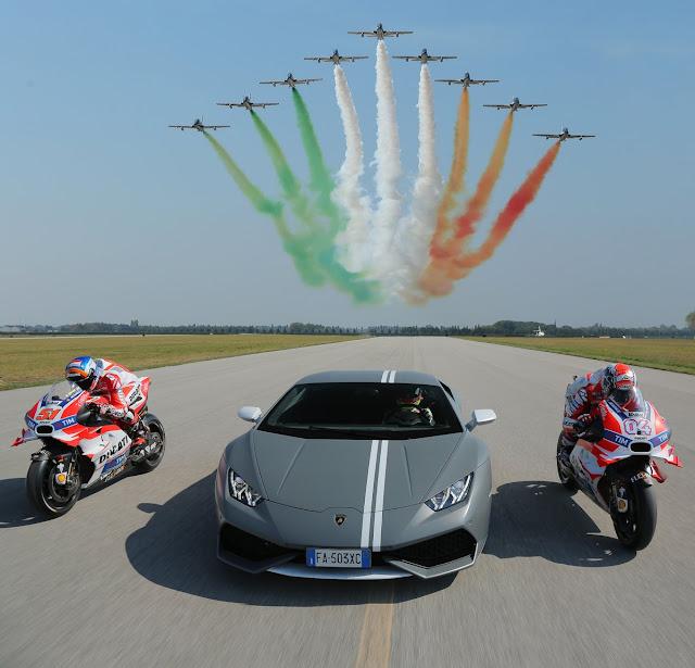 Lamborghini, Jet Tempur dan Ducati Adu Kecepatan
