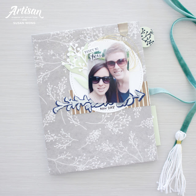 First Frost Easy Mini Album made from cards - Susan Wong for Stampin' Up! Artisan Design Team 2018