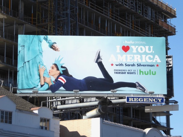 Sarah Silverman I Love You, America billboard