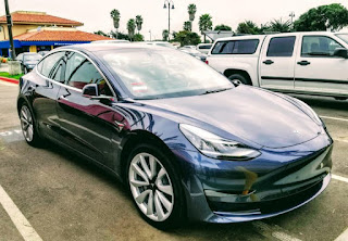 A fresh Tesla Model 3 spotting. (Photo Credit: Kyle Field) Click to Enlarge.