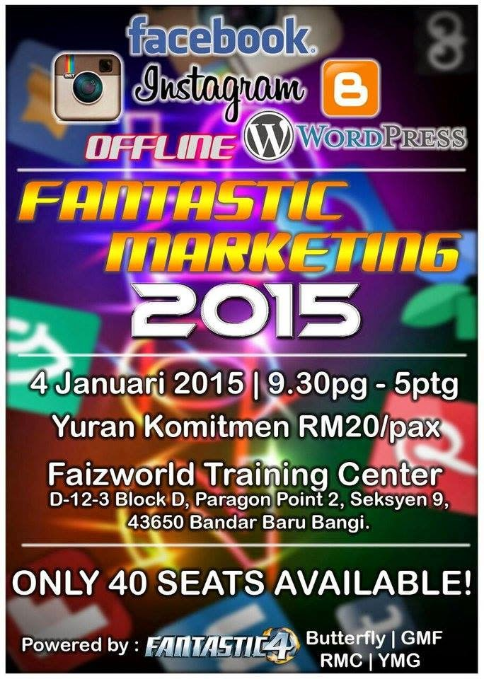 kelas shaklee, kelas marketing, group GMF, faizland, faizworld, pusat training, training centre, fantastic4, fantastic marketing 2015,