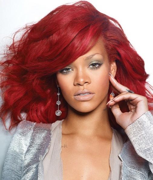 Hair Color Ideas: Rihanna Red Hair Color