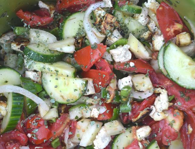 Grilled Tofu Panzanella Salad