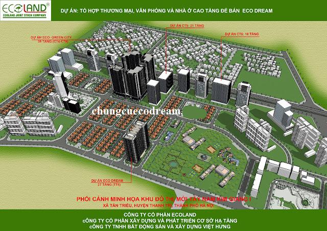 Phối cảnh dự án Eco Dream city tại khu đô thị Tây nam Kim Giang I