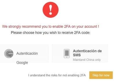 autenticación 2FA