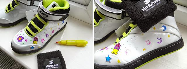 Skribbies shoes, children Hi-Top trainers, children personalised shoes