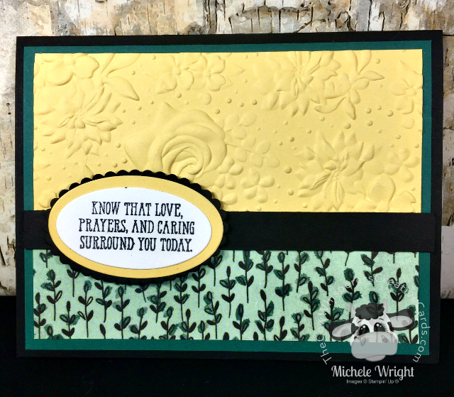 Card, Well Said, Country Floral Embossing Folder, Share What You Love