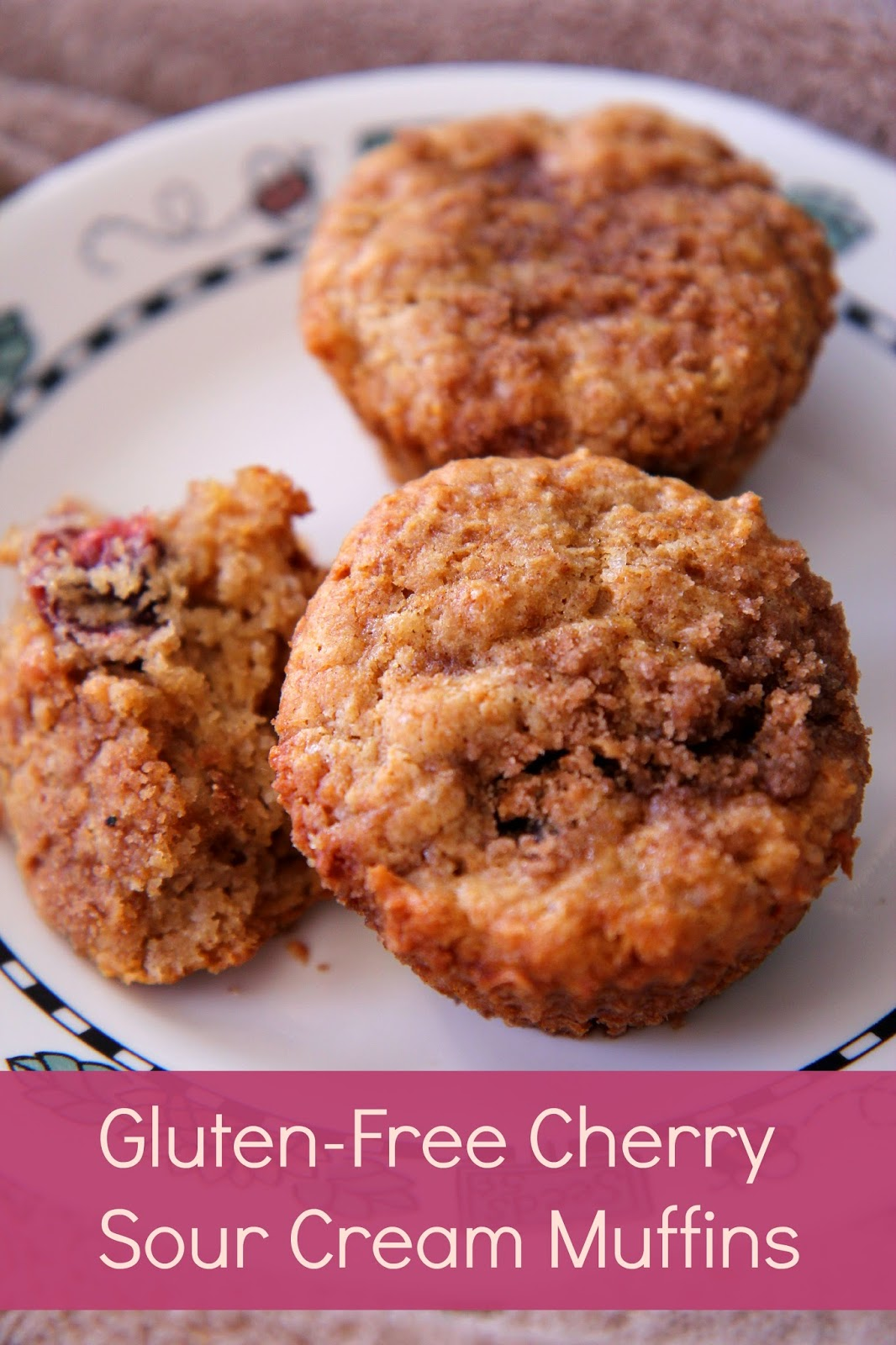 Looking for a gluten-free muffin recipe that doesn't taste GF? These cherry sour cream muffins fit the order!