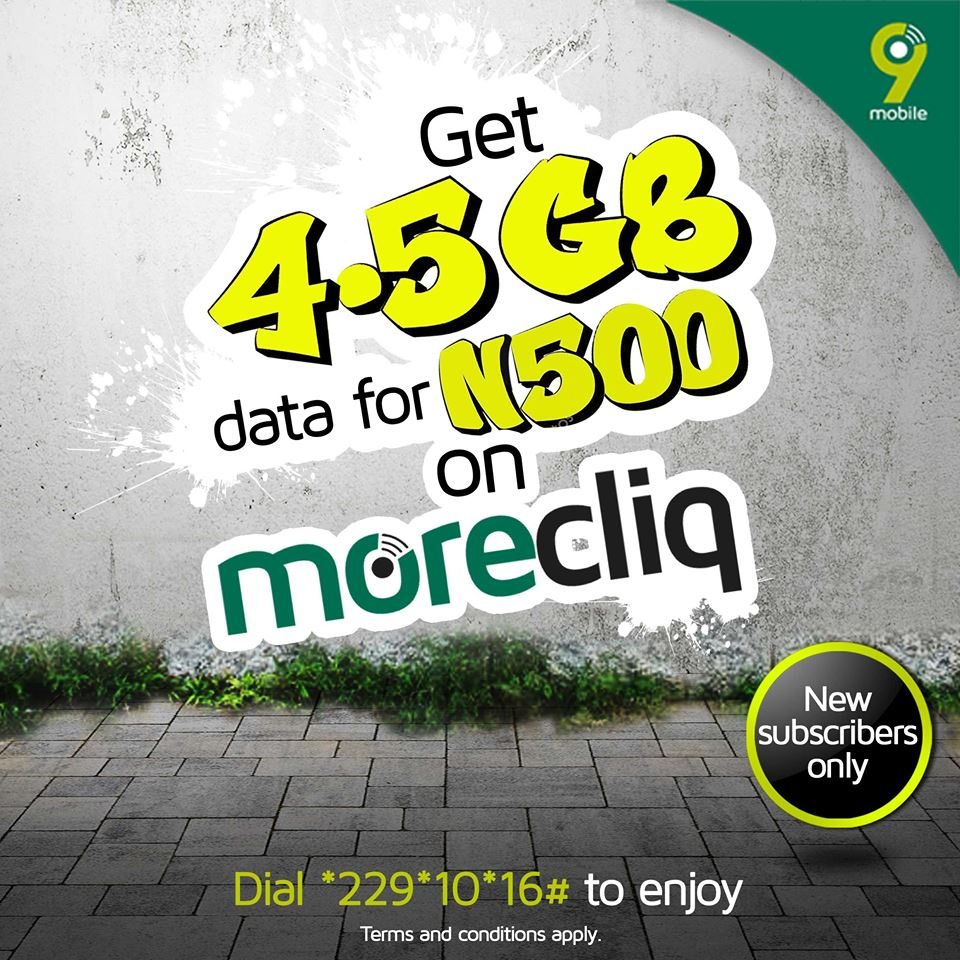 See how to activate 4.5GB for N500 and 1.5GB for N200 on 9Mobile