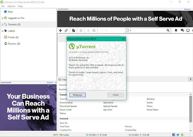 تحميل برنامج uTorrent 3.5.5 Build uTorrent-3.5.5-Beta+