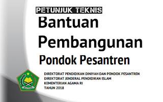 Petunjuk teknis pelaksanaan Bantuan Rehabilitasi Asrama Pondok Pesantren telah selesai da Download Buku Juknis Bantuan Rehabilitasi Asrama Pondok Pesantren Tahun 2018