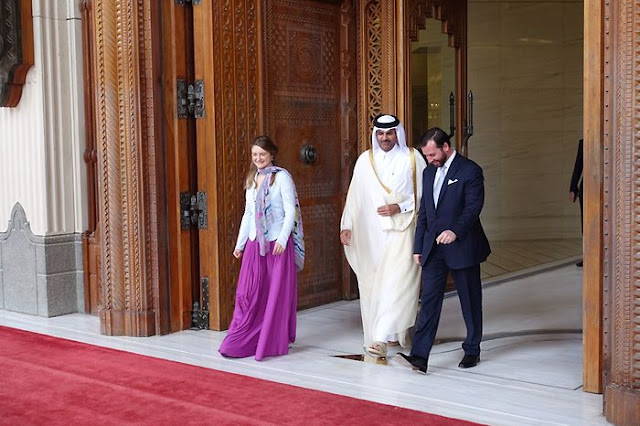 Qatar Foundation hosted Guillaume, Hereditary Grand Duke of Luxembourg and his wife Stéphanie, Hereditary Grand Duchess of Luxembourg