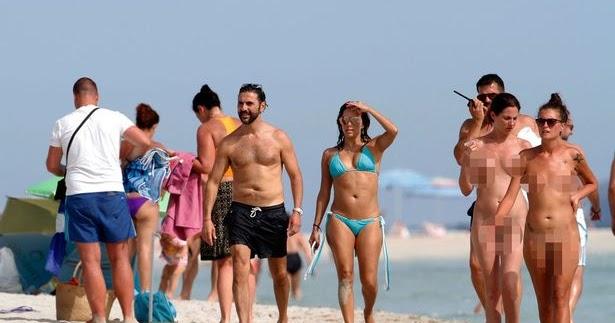 Eva Longoria  Husband Loved Up At A Nude Beach In Ibiza -6294