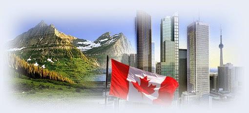 Канада флаг на фоне природы