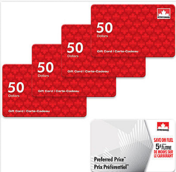 Canadian Rewards Ebay 200 Petro Canada Gift Cards For 194 A