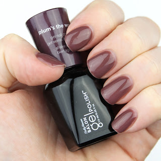 Sally Hansen Salon Gel Polish in Plum's the Word review swatch swatches