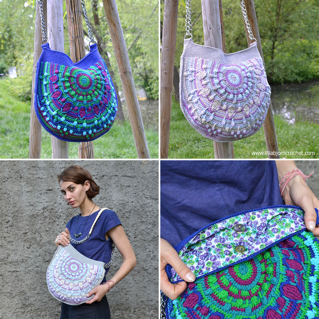 Peacock Tail Bag CAL - Part 1. Original design by Lilla Bjorn Crochet