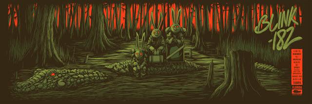 Mike Fudge Blink-182 Tampa Poster