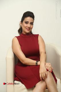 Telugu Tollywood Anchor Manjusha Pos in Red Short Dress  0047.JPG