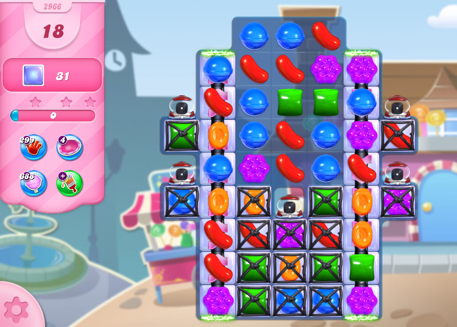 Candy Crush Saga level 2966
