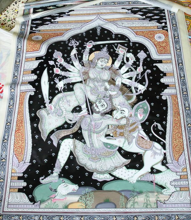 Tusser silk miniature art magic from Raghurajpur, Odisha