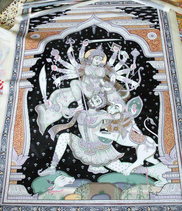 Tusser silk miniature art magic from Raghurajpur, Odisha