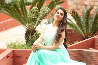 Actress Anchor Manjusha Stills in Long Dress at Srirastu Subhamastu Success Meet  0271