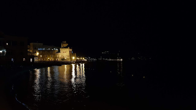 Panorama notturna della cittadina cilentana