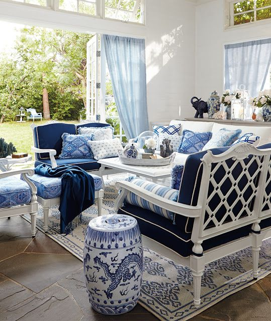 Blue & White Rooms and Very Affordable Blue & White ...