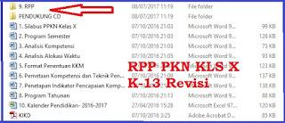 File Pendidikan Free Download RPP PKN Kls 10 SMA/MA K-13 Revisi