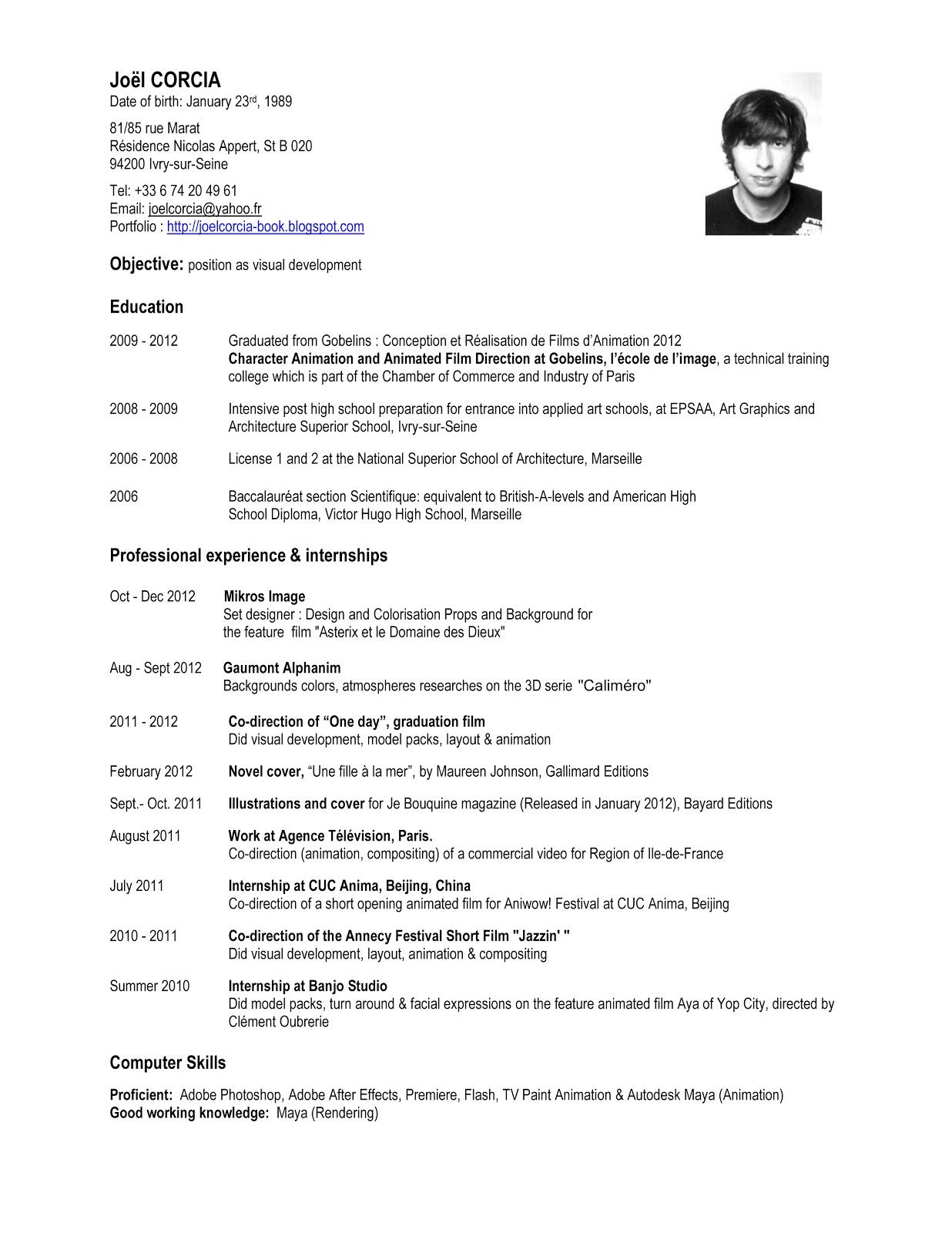 revision cv anglais pdf
