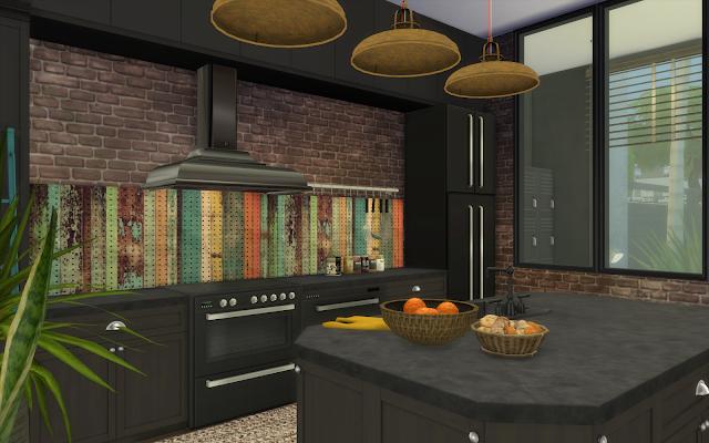 cuisine industrielle sims 4