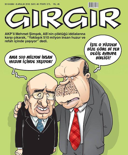 Gırgır Dergisi | 30 Kasım - 6 Aralık 2016 Kapak Karikatürü