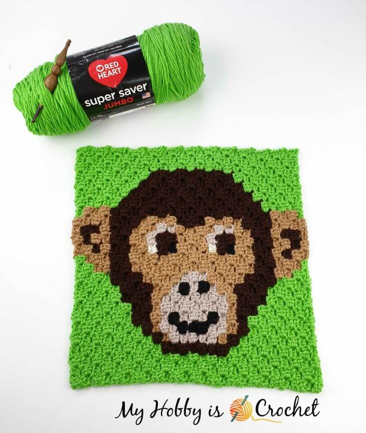 Chimp Lolo C2C Square