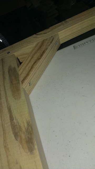 Corner anchors to prevent the frame from going out of square.