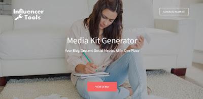 InfluencerTools Media Kit Generator