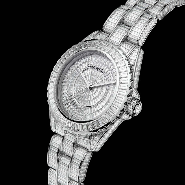 Chanel J12 Watch baguette diamonds