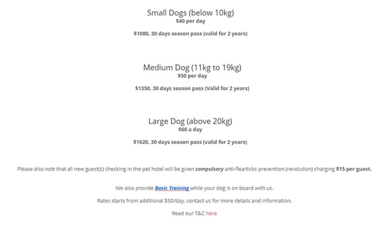 Dog boarding Hotels