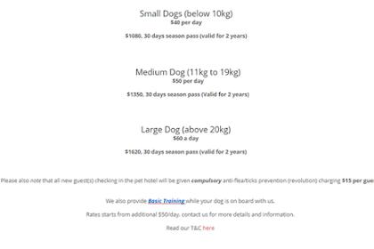 D Pet Hotel Rates