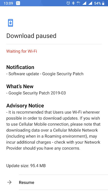 Nokia 8 receiving March 2019 Android Security update