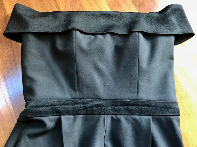 Diary of a Chain Stitcher: Black Tuxedo Jumpsuit in suiting and satin from the Cloth House