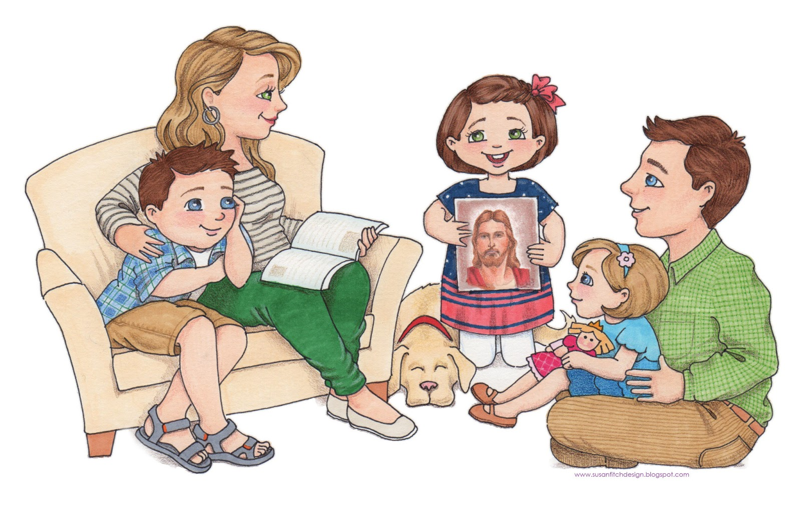 clipart family reading together - photo #49