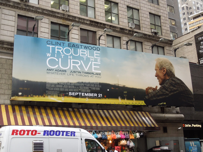 Trouble with the Curve movie billboard NYC