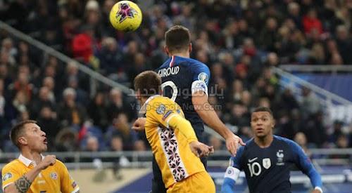 بهدفين لهدف منتخب فرنسا يحقق فوز صعب على منتخب مولدوفا في التصفيات المؤهلة ليورو 2020