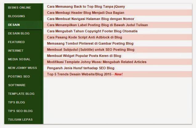 Daftar Isi Blog Tabulasi