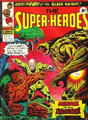 Marvel UK, The Super-Heroes #49, Thing and Man-Thing