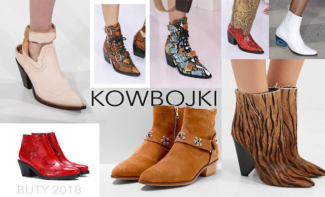 Modne buty 2018 kowbojki