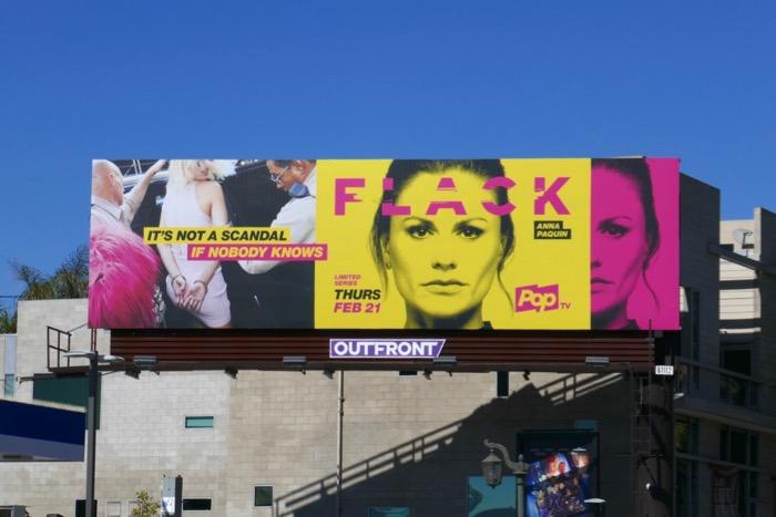 Flack series launch billboard